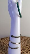 Vintage Arm Bangles Set Of 2. Jade Pearl Burlesque Dancer 20s Egyptian Revival