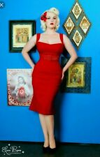 NWT RED PINUP COUTURE JESSICA WIGGLE DRESS SIZE LARGE