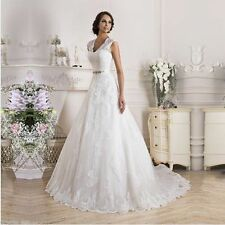 2016 White Ivory Wedding Dress Bridal Gown Size : 4 6 8 10 12 14 16 18 ++