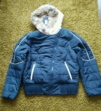 Fashion women padded jacket with faux fur size XL and M