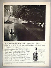 Jack Daniel's Whiskey PRINT AD - 1962 ~~ get out of the rain
