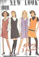 Vintage NEW LOOK SEWING Pattern 6535 Misses Mini Jumper 6-16 UNCUT OOP SEW FF