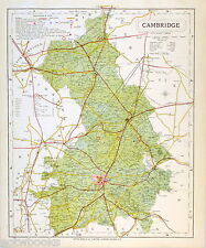 CAMBRIDGESHIRE - Original Antique County Map - LETTS, 1884, suitable for framing