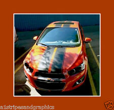 Hatchback Rally Style Stripe Stripes Fit  11 2012 2013 2014 15 Chevy SONIC AVEO