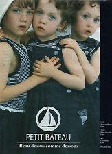 Publicité 1993  PETIT BATEAU pret à porter enfant collection mode sous vetement