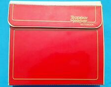Used 1980s Red Mead Trapper Keeper School Binder Folders w/Retail Card Store Tag