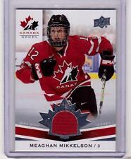 MEAGHAN MIKKELSON 14/15 Upper Deck Women's Team Canada Juniors Jersey #201