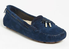 NEW UGG Australia Womens Roni Moccasin Midnight Blue Suede Flats Loafer 7.5/38.5