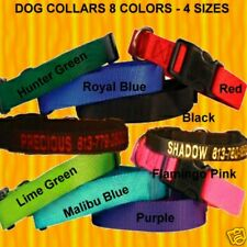"PERSONALIZED EMBROIDERED  DOG & CAT COLLARS ""8 Colors & 4 Sizes To Choose From"""