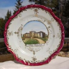 Beautiful HURON SOUTH DAKOTA small antique plate w/ pic of old COLLEGE