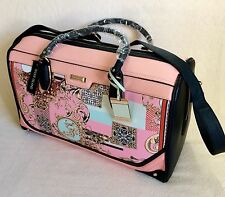 STUNNING RIVER ISLAND PINK SCARF PRINT PANEL WEEKEND BAG. BRAND NEW. TAGS