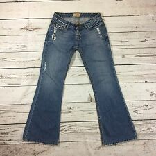 Womens BKE Denim Starlite Jeans Distressed Destroyed Flare Size 27 x 29 1/2 USA