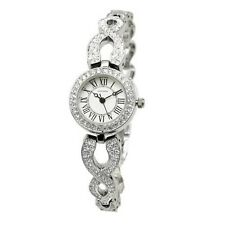 SEKONDA Ladies Stainless Steel Crystal Set Roman Numeral Watch 2033