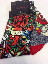 NEW Ed Hardy Women's 2- Pack Tattoo Art Rose And Grey Love