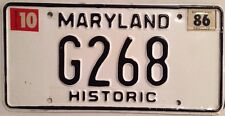 Maryland HISTORIC Antique Auto license plate Classic Car Ford Muscle Chevy Dodge
