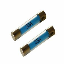 NEW Glass 20A, 35A 30MM standard quick blow fuses, car, motorbike, pack of 20