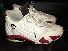 Nike Air Jordan 14 Retro '05 White/Red 311832-101 Shoes Men's sz 9.5