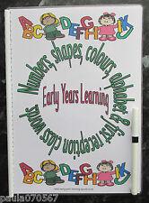 Primeros años de aprendizaje-Números, Formas, Colores, Abecedario & recepción palabras Libro