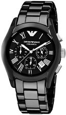 USA AUTHENTIC EMPORIO ARMANI BLACK CERAMICA CERAMIC CHRONOGRAPH WATCH-AR1400