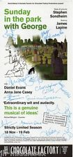 Sunday In The Park Signed by 15 Cast Members - Signed Flyer - Handsigned - AFTAL