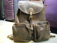 vintage J. Crew Distressed Leather  back pack made in USA