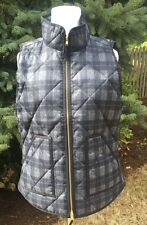 J.CREW XXL NEW Excursion Vest Plaid  Quilted Down Puffer NWT 2xl