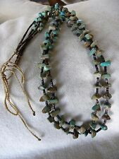 ROYSTON TURQUOISE DARK CHOCOLATE PEN SHELL HEISHE TRADITIONAL NECKLACE D CHAMA