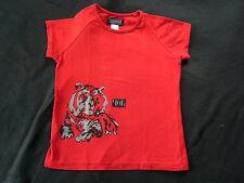 KOOKAI ? Mädchen T-Shirt Stretch Bluse ? 7 - 8 Jahre ? Gr. 128 ? rot mit Tiger