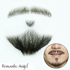 100% Human Hair Full Handmade Fake Mustache Beard for Entertainment/Drama/Party