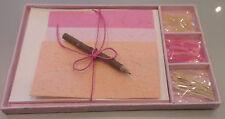 Conjunto de Escritura de papel hechas a mano papelería * Conjunto de regalo único * para todas las ocasiones