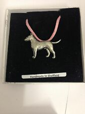 English Bull Terrier PP-D23 Dog Pewter Pendant on a PINK CORD Necklace