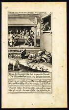 Antique Print-BEAUTY-FLOWER-DOG-HOG-CASKET-BONES-David-Galle-Wierix-1601