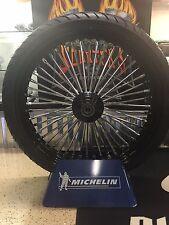 "23"" x 48 Fat King Spoke Front Wheel Kit w/HHITrees & Metzeler Black Single Disc"