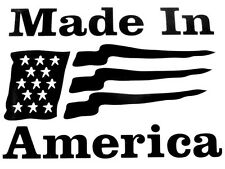 Made In America Decal- - Window sticker Car RV Hunting Fun Outdoor Vinyl Decal