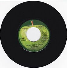 "MARY HOPKIN ""THINK ABOUT YOUR CHILDREN""/""HERITAGE"" 45 BEATLES' APPLE LABEL 1970"