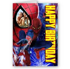 Personalised Photo Spiderman A5 Happy Birthday Card with Envelope