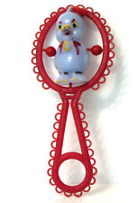 Vintage Retro Plastic/ Celluloid  BABY RATTLE Noisemaker Toy 1950's