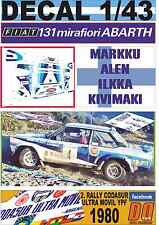 DECAL 1/43 FIAT 131 ABARTH M.ALEN R.CODASUR 1980 DnF (04)