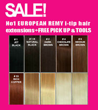 "Microbead 18"" EUROPEAN HUMAN REMY HAIR EXTENSIONS EXCEPTIONAL QUALITY+FREE MASK!"