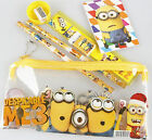 New Minions Kids 7 in 1 Pencil Case Stationery Set School Supply Boys Party Gift