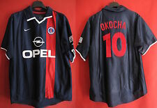 Maillot PSG Paris Saint Germain OKOCHA Vintage OPEL Nike Domicile 2001 - XL