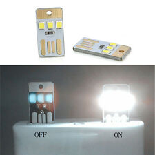 2Pcs Mini Portable USB LED Light Pocket Card Lamp Mobile Power Camping Laptop