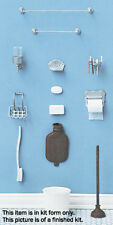 Dollhouse Miniatures 1:12 Scale Bathroom Accessories Kit Item #CB2205