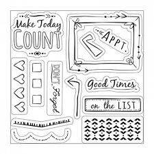 Sizzix Framelits Die Set 10PK w/Stamps - Make Today Count Item #661256