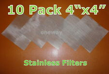 10 Pack) 200 mesh 75 Micron Stainless Steel Mesh  Extractor Screen Puretane Safe