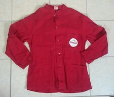 Vintage 1940's 50's Coke Coca Cola Chore Work Coat Uniform Delivery Shirt Jacket