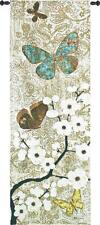 57x20 SPRING UNVEILING Butterfly Floral Tapestry Wall Hanging