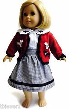 """Scotty Sweater, Blouse & Skirt Set made for 18"""" American Girl Doll Clothes"""