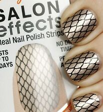 4 SALLY HANSEN Salon Effects NAIL POLISH STRIPS MISBEHAVED Fishnet GOLD Metallic