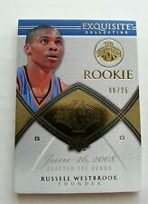 Russell Westbrook 2008-09 UD Exquisite Upper Deck Gold Base Rookie RC 9/25